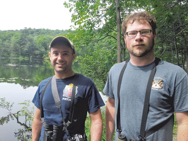 BioBlitz volunteers Zac Cota (left) and Remy Lary - ETHAN DE SEIFE