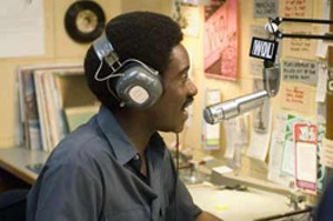 BLACK TALK Cheadle is squandered in this muddled bio about a troubled D.C. radio host.