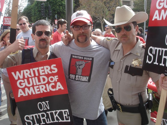 Blaise Hemingway, Center, On Strike