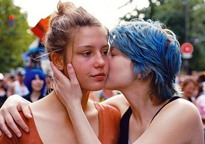 BLUE CRUSH Exarchopoulos plays a schoolgirl who finds herself drawn to an older art student in this Cannes winner.