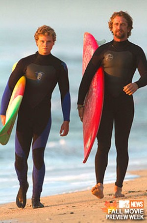 BOARD STIFFS Weston and Butler flounder as buds who live for the big waves in this by-the-numbers biopic.