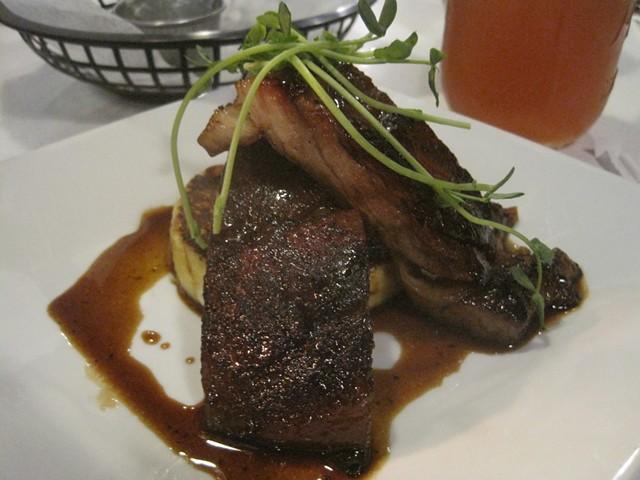 Bourbon-glazed pork belly