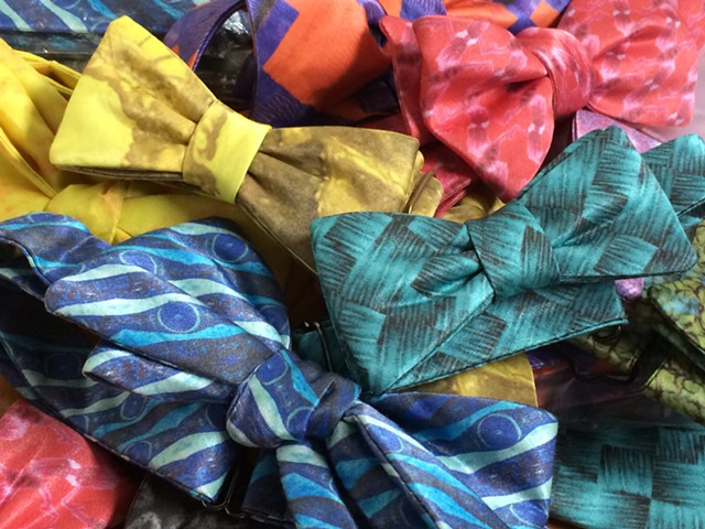 Bow ties in various patterns by Cerebella Design - COURTESY OF ARIELE FABER