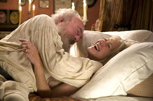 BRAWL IN THE FAMILY It's a laugh a minute with Leo and Sofya Tolstoy in Hoffman's literary adaptation.