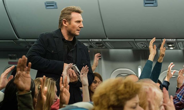 BRUISING ALTITUDE Neeson searches for a texting terrorist in Collet-Serra's thriller.