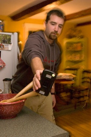 MATTHEW THORSEN - Bryan Hallett in the McDonough kitchen
