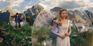 BUBBLEHEADS Williams guides Franco through a trippy paradise in Raimi's prequel.