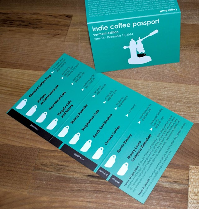 Burlington Indie Coffee Passport - COURTESY OF HENRI ST-PIERRE