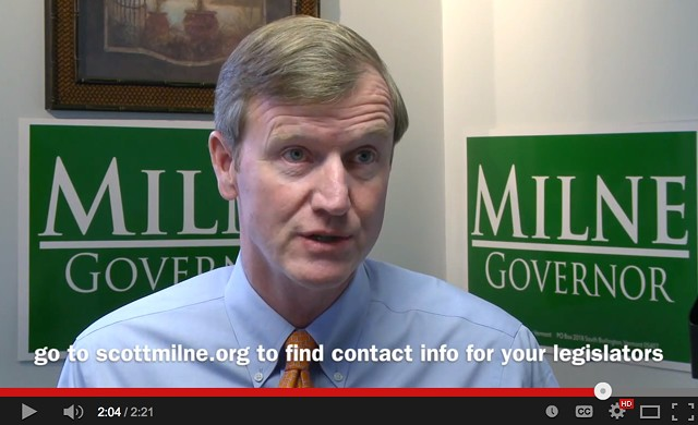 Scott Milne urges legislators to support his candidacy in latest web ad. - SCREEN SHOT