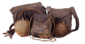 Canteens and knapsacks, U.S. Army - COURTESY OF SHELBURNE MUSEUM