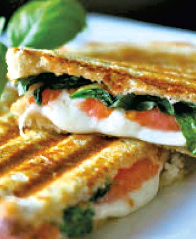 Caprese sandwich from Little Red Kitchen