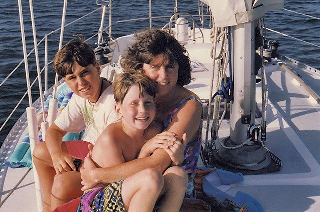 Carolyn with sons Zachary and Trenton - COURTESY OF CAROLYN EDWARDS' FAMILY