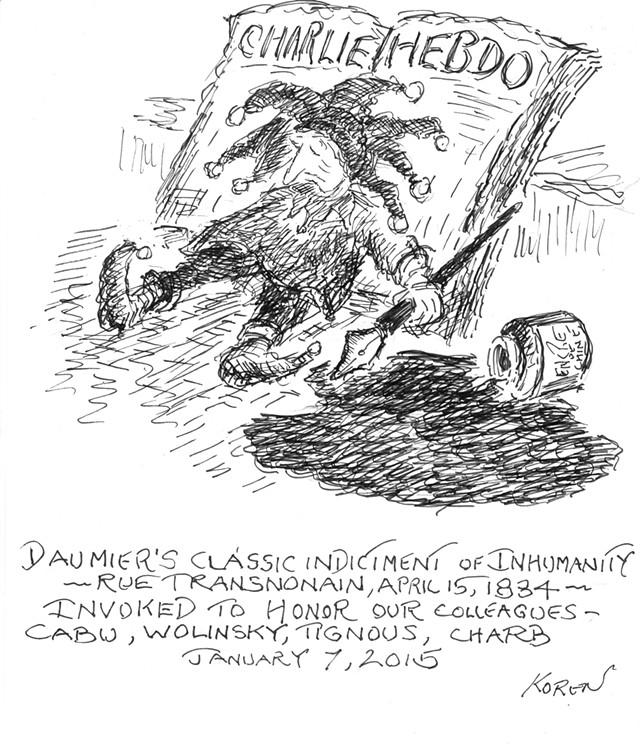Drawing by Edward Koren - COURTESY OF EDWARD KOREN