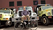 Cyclist Spencer Tackles Parking and Potholes