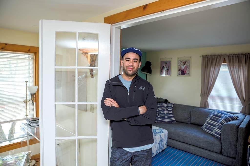 Chaz Requina in his apartment - OLIVER PARAINI