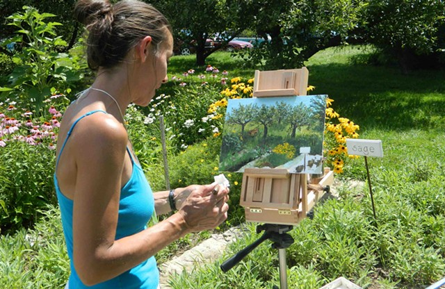 Chelsea Lindner at the 2013 Jericho Plein Air Festival - COURTESY OF MIKE MARRAFFINO