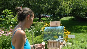 Chelsea Lindner at the 2013 Jericho Plein Air Festival