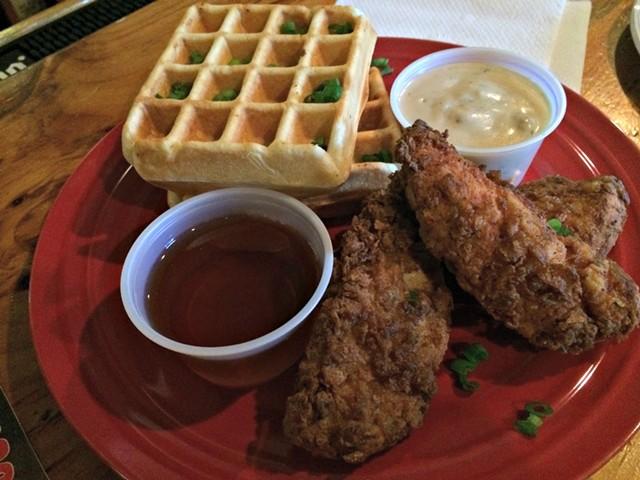 Chicken and waffles - ALICE LEVITT