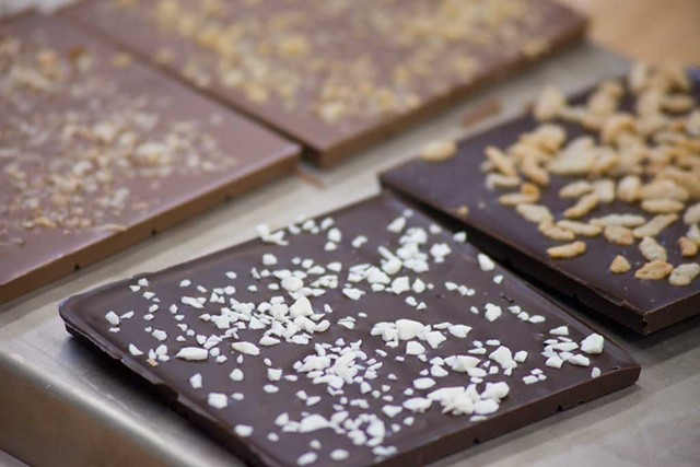 Chocolate bars from a class
