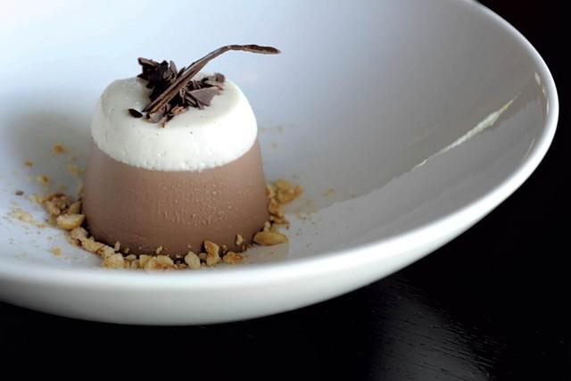 Chocolate-hazelnut panna cotta, Phoenix Table and Bar, Stowe - FILE: JEB WALLACE-BRODEUR