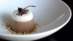 Chocolate-hazelnut panna cotta, Phoenix Table and Bar, Stowe