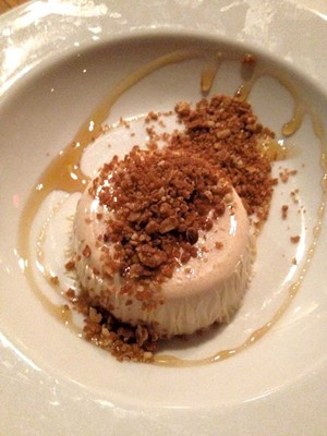 Chocolate panna cotta at Bluebird Tavern - COURTESY OF XIAN CHAING-WAREN