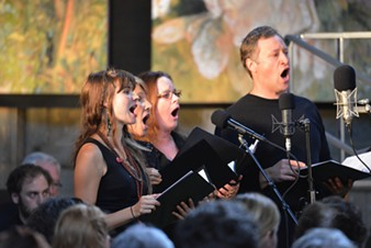 Chorus members performing the oratorio at its debut - COURTESY OF ROBERT LINDER
