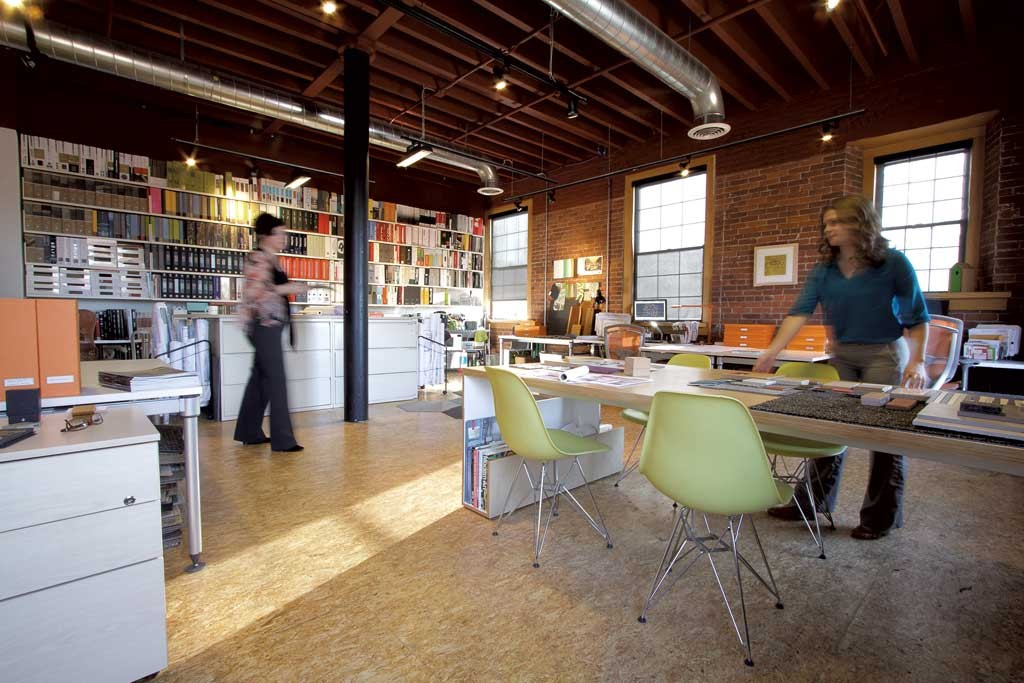 Christine Burdick and Kaitlin Mangan in their Burlington office - COURTESY OF LINDSAY RAYMONDJACK PHOTOGRAPHY