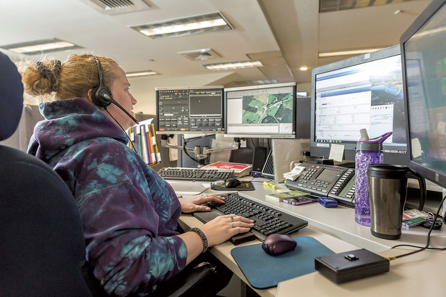 Chrystal Yantz, dispatcher - at the Williston call center - OLIVER PARINI
