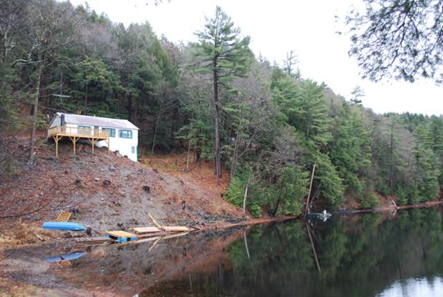 Cleared hillside at Sunrise Lake