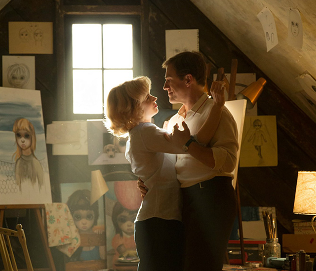 Color Scheme: Adams and Waltz play the couple behind an art-world phenomenon in Tim Burton's latest trifle.