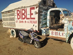 Converted vehicle at Salvation Mountain - PAULA ROUTLY