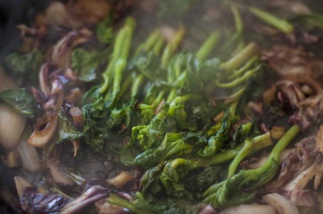 Cooking the greens - HANNAH PALMER EGAN