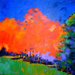 """""""Crimson Foliage II"""" by Lorraine C. Manley - MARC AWODEY"""