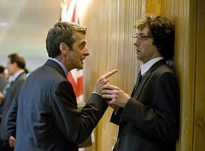 "CUSS AND TELL Capaldi offers some gentle feedback to the aide he calls ""Ron Weasley"" in Iannucci's comedy."