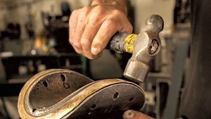 Custom shaping All Souls' brass tortilla cutter