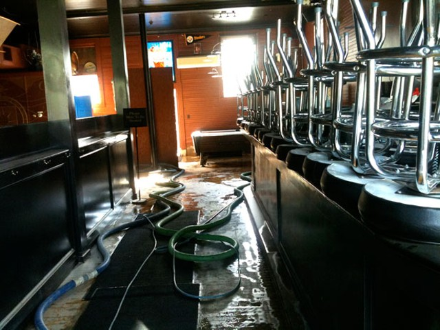 damage at the Alchemist after Irene