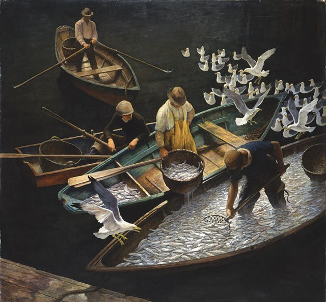 """Dark Harbor Fishermen"" by N.C. Wyeth"