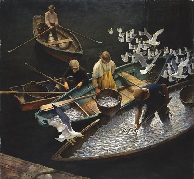 """""""Dark Harbor Fishermen"""" by N.C. Wyeth"""