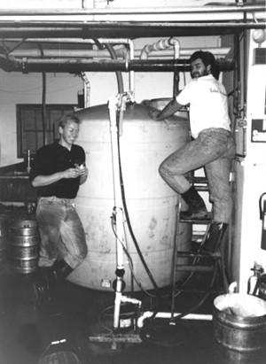Dave Hartmann and Billy Gault in October, 1992 - PHOTOS COURTESY OF  LONG TRAIL BREWING CO.