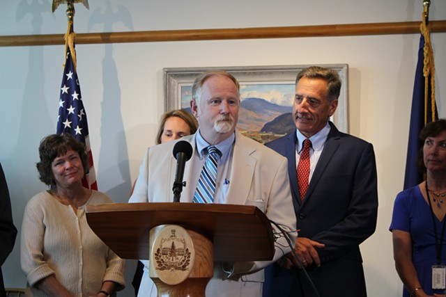 DCF Commissioner Dave Yacovone and Gov. Peter Shumlin - PAUL HEINTZ