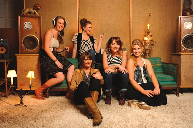 Della Mae (Celia Woodsmith second from left)