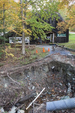 Destruction to the museum entrance