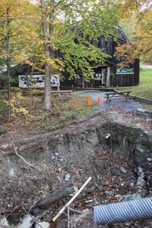 Destruction to the museum entrance