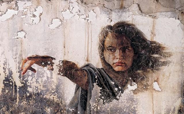 """Detail from """"Angel De Sodoma Y Gomorra"""" by Rafael Cauduro"""