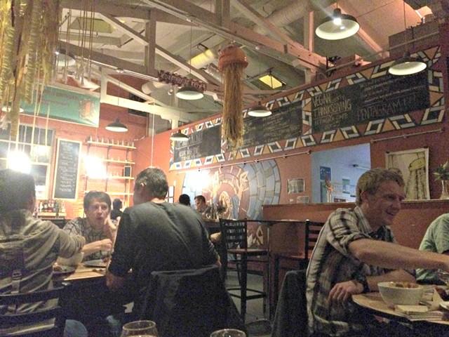 Dining room at ArtsRiot - ALICE LEVITT