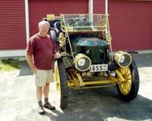 Don Bourdon With His Stanley Touring Car