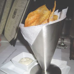 Duck fat chips at Leunig's upstairs bar