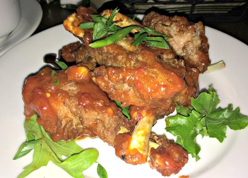 Duck wings, Barrows House Restaurant, Dorset - ALICE LEVITT