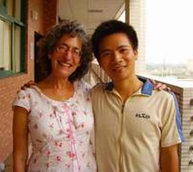 Ellen David Friedman with a Student